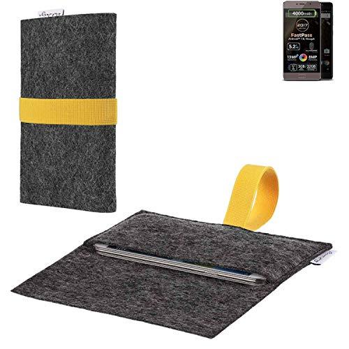 flat.design vegane Handy Hülle Aveiro für Allview P9 Energy Lite (2017) passgenaue Filz Tasche Case Sleeve Made in Germany