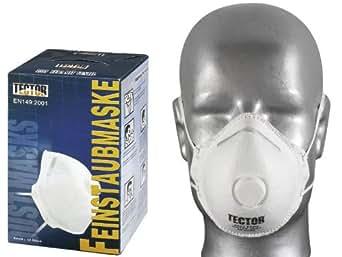 KLASSIK- FEINSTAUBMASKE P2 TECTOR®, MIT AUSATMUNGSVENTIL