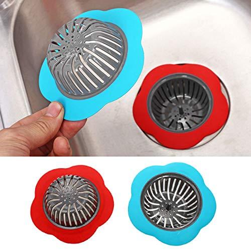 MY.SPORT filtro creativo in silicone a cinque punte a forma di stella per lavello da cucina e bagno taglia unica Blue