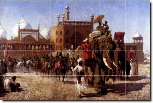 EDWIN SEMANAS HISTORICA DUCHA MURAL DE AZULEJOS 6  24X 36PULGADAS CON (24) 6X 6AZULEJOS DE CERAMICA