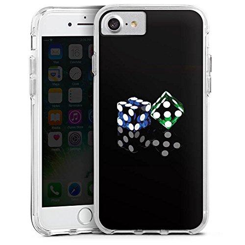 Apple iPhone 6s Bumper Hülle Bumper Case Glitzer Hülle Cube Spiel Game Bumper Case transparent
