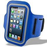 Blau Fitness Armbinde Joggen Sport Armgurt Arm Tasche für