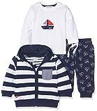 Kanz Baby-Jungen Bekleidungsset Sweatjacke m. Kapuze 1/1 Arm + T-Sh, Mehrfarbig (Y/D Stripe 0001), 56