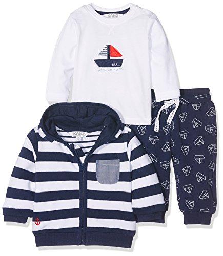 Kanz Baby-Jungen Bekleidungsset Sweatjacke M. Kapuze 1/1 Arm + T-Sh, Mehrfarbig (Y/D Stripe 0001), 74