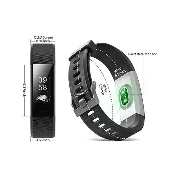 BANLVS Pulsera Actividad, Pulsera Inteligente con 14 Modos de Deporte, GPS Pulsómetro Monitor de Ritmo Cardíaco Sueño… 2