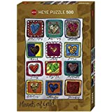 Heye 29706 - Standardpuzzle 500 Teile, Stefanie Steinmayer, Hearts of Gold Year Love