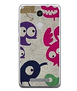 PrintVisa Birds Doodle High Gloss Designer Back Case Cover for Xiaomi Redmi Note 3 :: Xiaomi Redmi Note 3 Pro :: Xiaomi Redmi Note 3 MediaTek