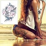 tzxdbh 3pcs-Femme Jambe Tatouage Rose et Serpent Tatouage Transfert de l'eau Tatouage...