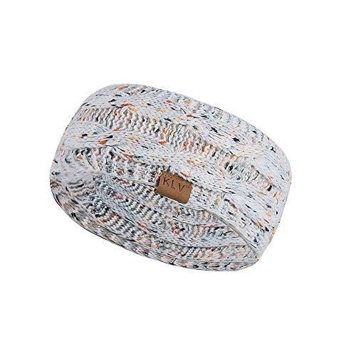 Männer Frauen Haarball Knitting Stirnband Elastic Handmade Sport Haarband Turban/Einstellbare elastische Acryl-Material/Daily Wear Dekoration, Sport Haar,Weiß