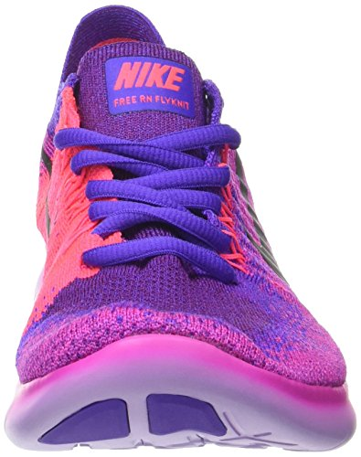 Nike Free Run Flyknit 2017, Scarpe Running Donna Rosa (Fire Pink/black-hyper Grape-racer Pink-vi)