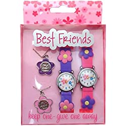 Gift pack Best Friends watches & pendants keep one - give one away FLWR2