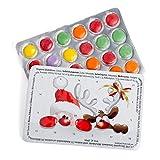 corpus delicti :: Mini-Adventskalender mit Schokolinsen - 5er Set Weihnachtsmann & Rentier Rote Nasen