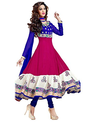 7thwonder-Pink-Blue-Color-Party-Wear-Embroidered-Georgette-Dhupian-Semi-Stitched-Salwar-Suit-7WG636DL1005KR