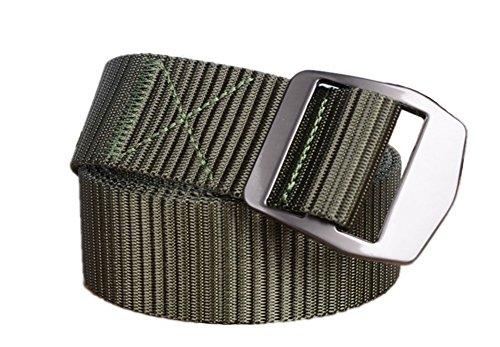 'ampie Men1.57' uomini Yacn nastro a rete di nylon tattica militare di rete con elevata Silveryk fibbia (verde) - Web Cinghia Della Pistola