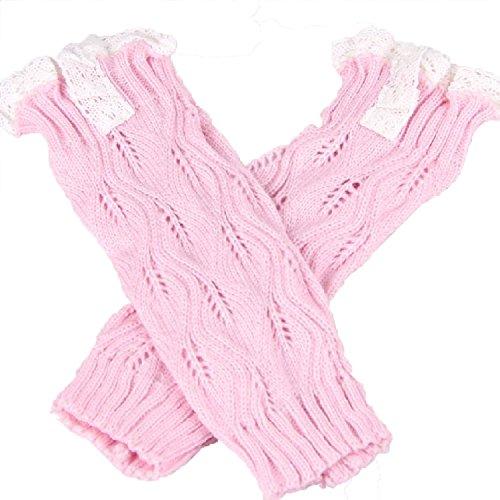 Ragazze bambini bambino cava foglie uncinetto maglia foglia pizzo Trim Boot Cover scaldamuscoli Calze Leggings calze