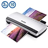 INTEY A4 Thermal Laminator Quick Warm-up Speed with 10 Laminating Pouches