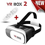 #9: [ Best Selling Offer ] VR BOX 2.0 Virtual Reality Glasses With Bluetooth Wireless Remote Controller | Premium Design 3D VR Headsets With Adjustable Cardboard |SGRH Exclusive Virtual Reality 3D Glasses | Latest Version Google Cardboard | Lightweight and Strong build | Unique Front mobile holder |42MM Diameter HD Optical Lenses | Multi-layer thermolysis design | Comfortable & Padded | Limted Quantity Avaiable in Affordable Price [ Color : Black & White ]