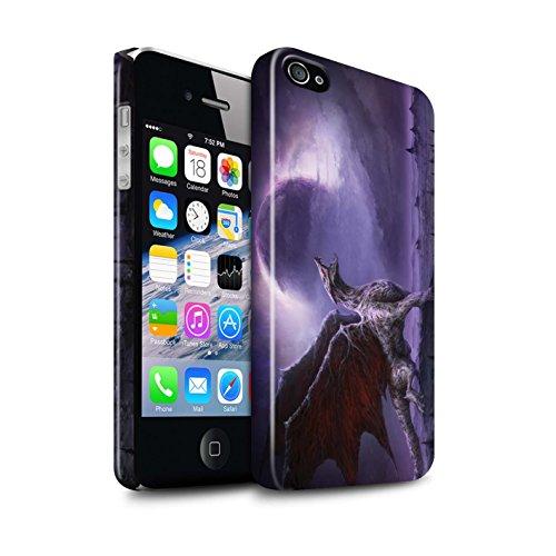 Offiziell Chris Cold Hülle / Glanz Snap-On Case für Apple iPhone 4/4S / Getarnte Teufel Muster / Dunkle Kunst Dämon Kollektion Drachen/Finsternis