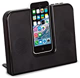 KitSound Impulse Portable Speaker Dock with Lightning Connector for iPhone 5/5S/5C/SE and iPod Touch 5th Generation - Black