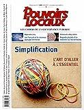 simplification l art d aller ? l essentiel pouvoirs locaux n?106