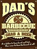 Dad 's BBQ Grab A Bier Wand Schild retro Art Geschenk für Dad diesen Sommer
