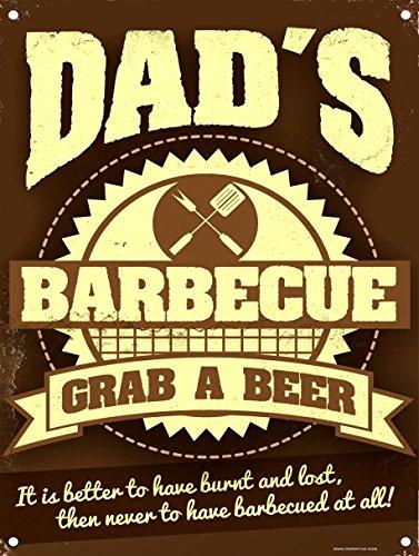Zeichen Bier Wand (Dad 's BBQ Grab A Bier Wand Schild retro Art Geschenk für Dad diesen Sommer)