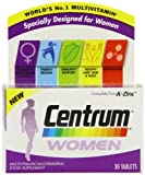 2 Packs Centrum Women 30 tablets = TOTAL 60 Tablets