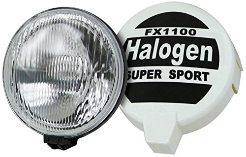 Metall-lampe Deckt (motorsportandaccessories© Rally Spots Paar Halogen 20,3cm 12V H3–55W Leuchtmittel Rally Bezüge)