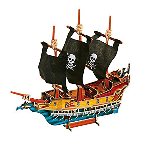 Small Foot Company 3D Puzzle Pirate Ship - 89 Pieces