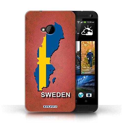 Coque de Stuff4 / Coque pour HTC One/1 M7 / Amérique/Américain/USA Design / Drapeau Pays Collection Suède/Suédois