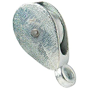 Merriway BH01888 Bulk Hardware Single Pulley Galvanised 38mm, Grey