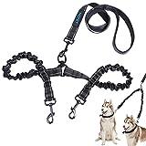 Wokee Hundeleine Robustes Nylon Rutschfest Training Hundeleine 100cm Halsband Schleppleine für Kleine und große Hunde 360 ° drehbar Doppelte Zugleine