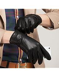 Los guantes calientes guantes y cómoda Niños Touch Guantes de cuero de los hombres Función Sección caliente y delgado del otoño y del invierno ( Tamaño : M )