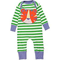 PICCALILLY in cotone organico Bambino Verde Tiger applique Playsuit