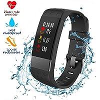 Montre Connectée, CHENGXI Fitness Tracker D'activité Cardiofréquencemètre, IP67 Etanche Bracelet Sport Podomètre Calorie et Sommeil Fitness Bracelet, Mode Multi-sport pour iPhone Android