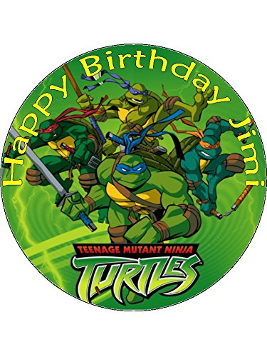 7,5 Teenage Mutant Ninja Turtles Cartoon Essbarer Zuckerguss Birthday Kuchen Topper