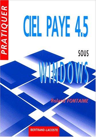 Ciel paye 4.5 sous Windows