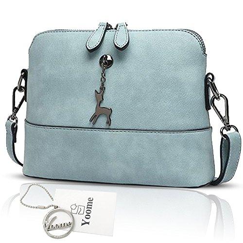 Yoome Hollow Pendant Printing Nette Tasche für Frauen Shell Tasche Mädchen Taschen für College - Blau Blau