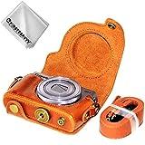 First2savvv PU cuir étui housse appareil photo numérique pour Canon PowerShot G9 X Mark II. G9X MK2 G9 + Chiffon de nettoyage XJD-G9XMkII-09