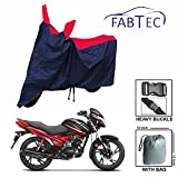 Fabtec Premium Quality Stylish Red & Blue Bike Cover With Buckle Lock & Storage Bag Free For Hero Glamour