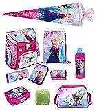 Disney die Eiskönigin Schulranzen Set 10tlg. Scooli Campus Up mit Sporttasche, Schultüte 85cm und Regen/Sicherheitshülle FRQA8252-GR