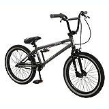 Zombie 50,8cm Knochen BMX Bike–Fahrrad in grau und schwarz mit 25x 9Gears (Jungen)