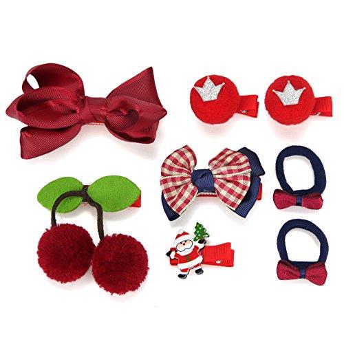 OOCOME Baby Mädchen Haarspangen Haargummis Haarschleife Nette Haarnadel Bunte 8 stücke (Pink Flower Sandal)