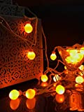 Glimmer Lightings Yellow Elegant Small Ball Decoration String Lights Diwali Special Home Decoration Gifts Rice Copper Wire Lights Diwali LED Wedding Christmas Party Home Quirky Unique Gifts Copper Wire (Made In India)