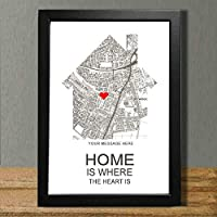 Home is Where the Heart is Personalised Keepsake Print Gift with FRAME Wedding, Wedding Gifts, New Home, Housewarming Gift, Family