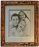 Altholz Bilderrahmen für 40x50cm Bilder, Italy-Style, Echtglas, mit 2 Aufhängungen, jeder Rahmen ein Unikat, Holzfarbe: Mahagoni