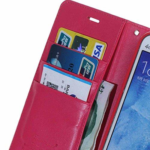 Housse iPhone 7 Plus, MSK® Etui cuir pour Apple iPhone 7 Plus Coque PU Cuir Flip Magnétique Portefeuille Etui Housse de Protection Coque Étui Case Cover avec Stand Support Avec des Cartes de Crédit Sl Rouge