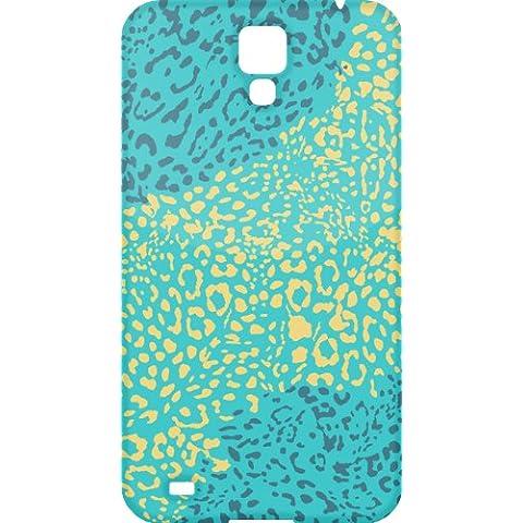 Impresi—n del guepardo cubierta de la caja protectora del telŽfono de pl‡stico azul y naranja del Samsung Galaxy S5 GS5 (imagen muestra ejemplo galaxia