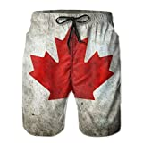 Canadian Maple Leaf Summer Breathable Quick-Drying Swim Trunks Beach Shorts Board Shorts