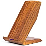 GreatCool Holzmaserung Wireless Charger mit 2 Spulen,Induktive Ladegerät qi Wireless Charging Fast Ladestation Induktionsladegerät 10W 5W für iPhone X/8/8 Plus Samsung Galaxy S9/S8/S7/S6 Edge Plus